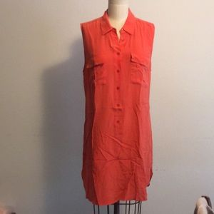 Equipment Silk Button Up Dress